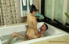 Wet masseuse fucking hard