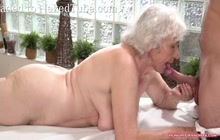 Granny Getting a Massage With a Big Hard Cock