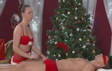 Horny Santa masseuse