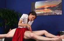 Oil dick massage