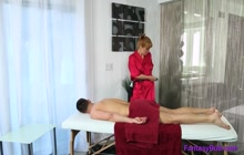 Blowjob and good fuck included in this super massage
