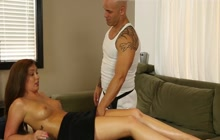 Massage makes her feel relaxed and horny