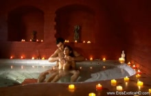 Oily Indian babe gets fucked good