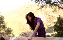 Naughty massage turned her on